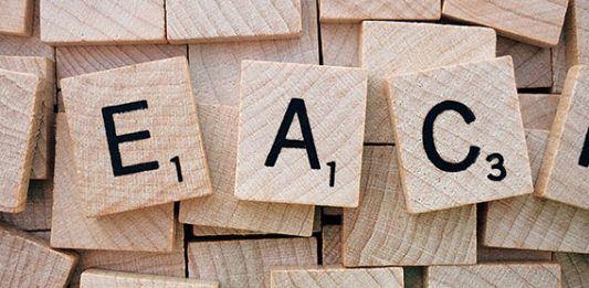 Teaching English Online Scrabble letters