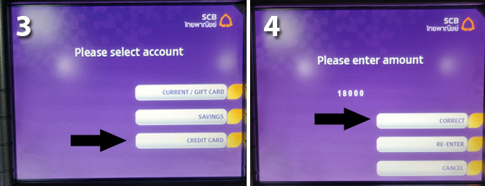 Cash Machine Thailand step 3 and 4