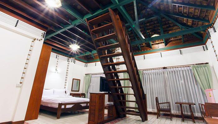 Serene Teak Loft Apartment