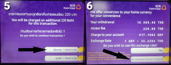 Thailand Cash Machine Step 5 & 6