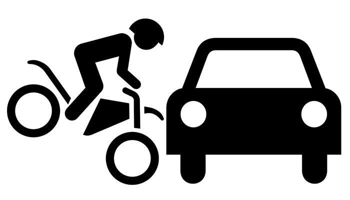 Motorbike Crash Symbol